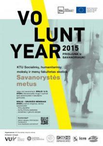 VOLUNTYEAR 2015. Prisijunk ir savanoriauk!