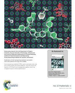 Prestižinio mokslo leidinio viršelyje – KTU tyrėjų publikacija