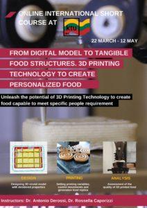 3D food printing mokymai