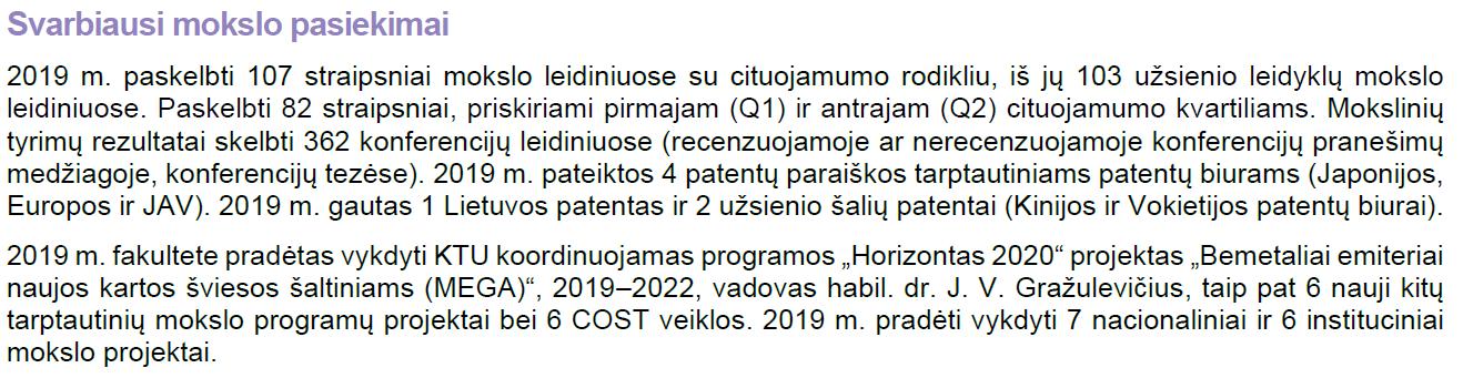 Svarbiausi mokslo pasiekimai 2019