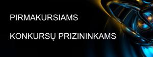 konkursu prizininkams baneris