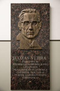 Juozo Vėbros memorialinės lenta