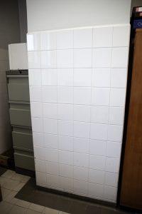 baltų glazūruotų plytelių sienų panelių tipas 1