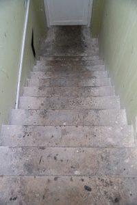 betono laiptai iš 4 a. ant stogo