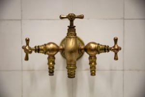 bronzinis trijų čiaupų kranas 2